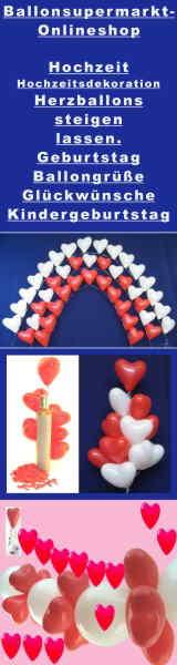 Hochzeit Dekoration mit Ballons