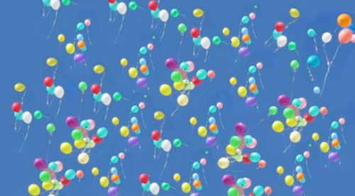 Karneval-Fasching: Himmel voller Luftballons